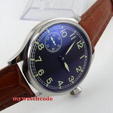 44mm parnis black dial luminous seagull 6497 movement hand winding mens watch P5