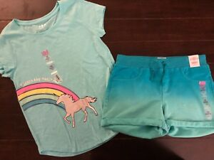NWT Justice Girls Kids Size 10 or 14//16 Orange Ombre Tank Top /& Soft Shorts