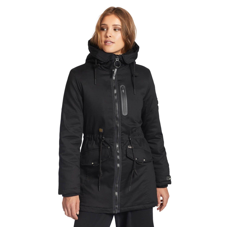 Khujo Abbigail Damen Parka Mantel schwarz gefütterter Wintermantel     Spielen Sie das Beste    Bestellungen Sind Willkommen    Großer Verkauf    Große Ausverkauf    Sale