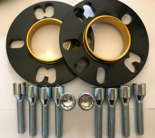 2 x 10mm BIMECC Nero HUB Distanziatori 10 x M12X1.5 sintonizzatore Bullone Audi A8 TT 5X112 57.