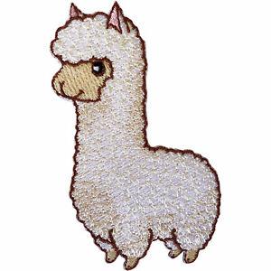 Llama-Alpaca-Patch-Iron-On-Sew-On-Lama-Sheep-Embroidered-Badge-Animal-Embroidery