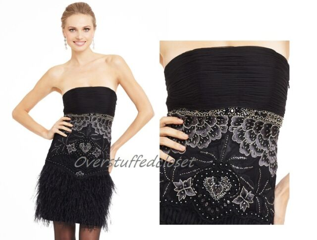 24ced66930db Sue Wong Strapless Embroidered Floral Sheath Dress S 6 for sale ...