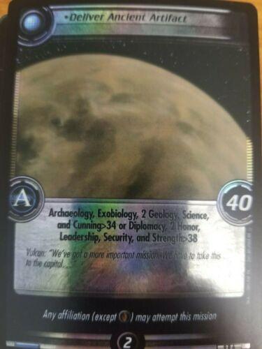 Star Trek CCG Dangerous Missions 9R6 Deliver Ancient Artifact FOIL NM-Mint