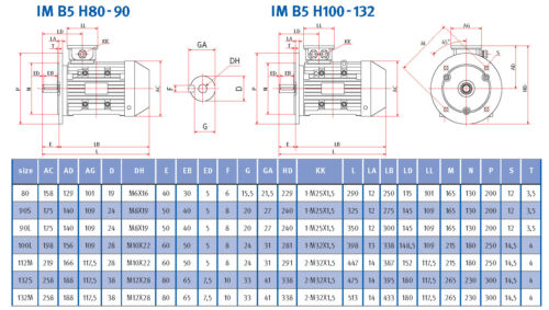 B5 3000 U//min Drehstrommotor Energiesparmotor IE2 1,1 kW 80B Elektromotor