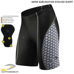 Mens-Padded-Cycling-Shorts-Sublimation-Bike-Knicks-Half-Tight-Base-Layer-Bicycle
