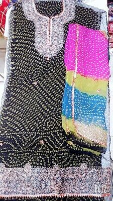 Audace Indiano Pakistano Designer Suite Quelli Separati Chundri Chiffon Suite Con Dori Lavoro-mostra Il Titolo Originale L'Ultima Moda