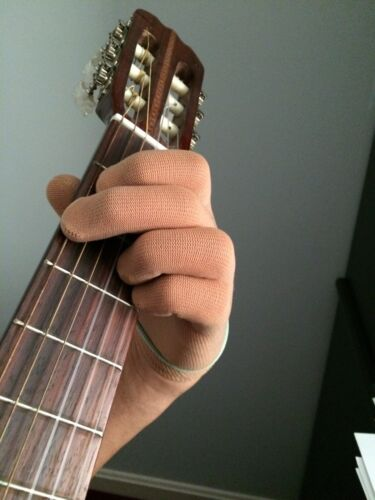 Guitar Glove Bass Glove TAN COLOR XL Musician's Practice Glove one