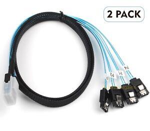 Mini-SAS-SFF-8087-to-4-SATA-Multi-Lane-Forward-Breakout-Internal-Cable-3-28-Feet