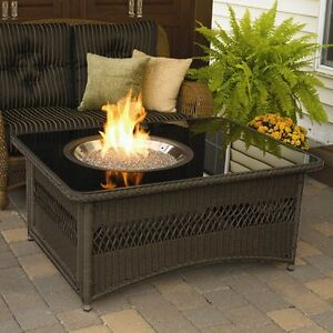 Image Is Loading Outdoor Fire Pit Coffee Table LP Gas Fireplace