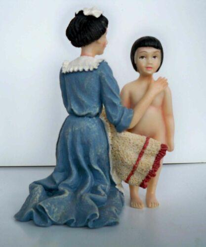 mujer con niño polyresin era muñeco para la casa de muñeca 1:12