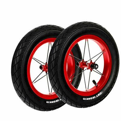 Pair Strider Balance Bike Replacement Wheel Alloy//Pneumatic