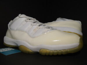 f2fb28609f8f 2001 NIKE AIR JORDAN XI 11 RETRO LOW WHITE LIGHT ZEN GREY PATENT ...