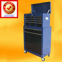 Mechanics Tool Chest / Rolling Tool Cabinet Storage Ball Bearing Drawers - Blue