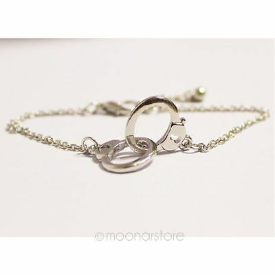 Retro Womens Silver Gold Plated Charm Handcuffs Bracelet Twin Knots Buckle Chain