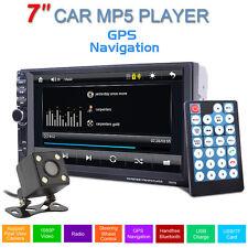 "2din Bluetooth AUX USB GPS mapa reproductor mp5 7"" auto FM Estéreo cámara Coche"