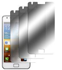 3 x Samsung Galaxy s2 S II i9100 PELLICOLA SPECCHIO PROTEZIONE DISPLAY PELLICOLA MIRROR