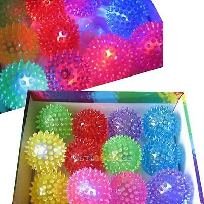 Flashing Light Up Spikey High Bouncing Balls Novelty Sensory Hedgehog Ball LS4G