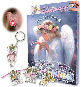 ROSE PETAL ANGELS SHRINKLES SHRINK ART BUMPER BOX SET & PENCILS EMBELLISHMENTS