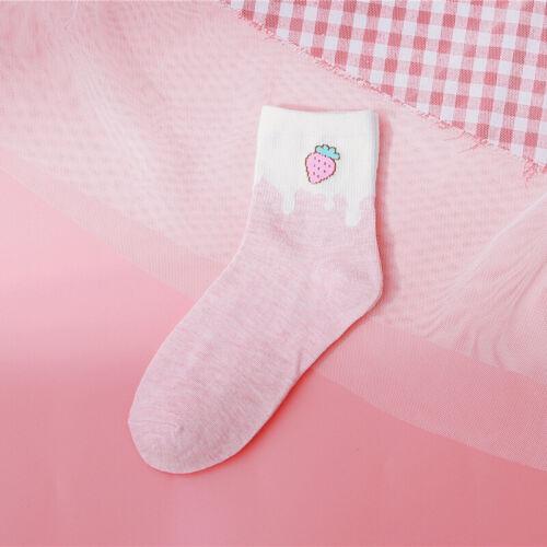 Details about  /Cute Art Sock Cartoon Fruit Strawberry Watermelon Pattern Korean Kawaii Socks TL