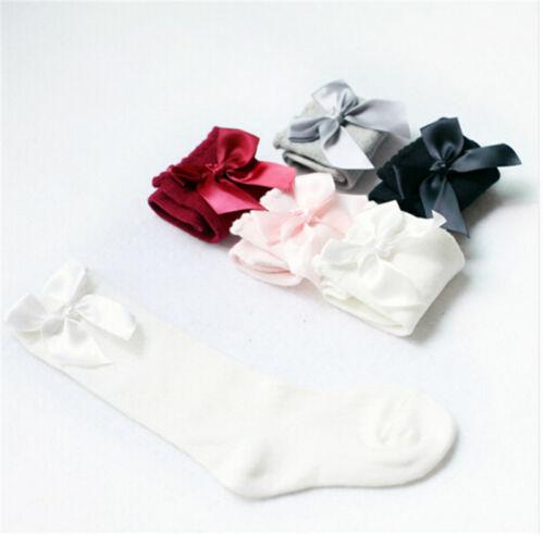 Baby Girls Socks Knee High with Bows Cute Baby Socks Long Tube Kids Leg Warmer F