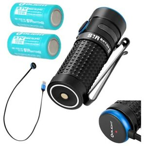 2-Batteries-Bundle-Olight-S1R-II-Baton-1000-lumen-rechargeable-LED-flashlight