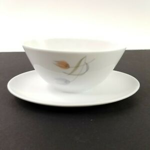 Furstenberg-Fine-China-Tulipan-Gravy-Boat-with-Attached-Underplate-Vintage-EUC