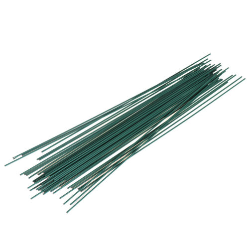 50pcs 30cm*2mm Flowers Stem Dark Green Wire artificial Fower Head Access JBMWCA