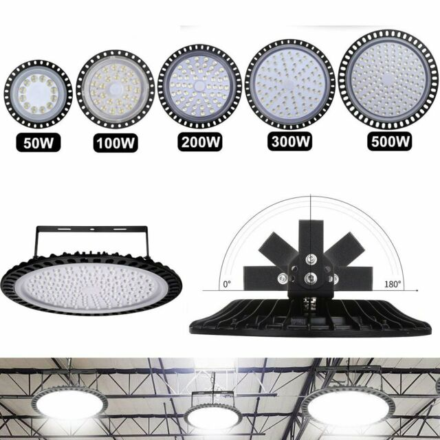 50W-500W LED High Bay Light UFO Flood Industrial Warehouse Shop Lighting Fixture