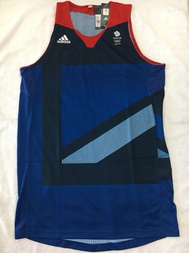 Maillot de corps jersey de basket-ball maillot de basketball de l équipe britannique GB 2012 des véritables joueurs Adidas