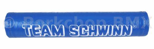 Team Schwinn VINYL SNAP naugahyde old school BMX Bicycle Handlebar Bar Pad BLUE