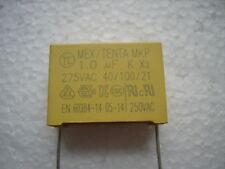 1 µF MKP  275 V AC K X2  Polypropylen Folien Kondensator  1Stck.