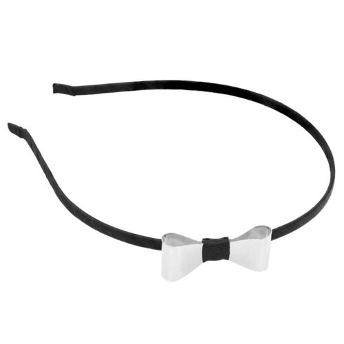 Cute Gold Silver Metal Bow Alice Head Band Hair Accessory Gift Present Kids