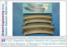 EE 7167 LikeNew Marklin HO Curve Metal Bridge Ramps Stud Track 2 each with OBX