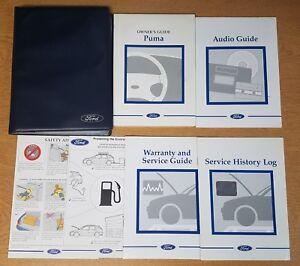 GENUINE FORD PUMA HANDBOOK OWNERS MANUAL 1997–2001 SERVICE BOOK PACK ... e053dd0c1f90