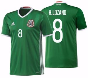 001dba706 Image is loading ADIDAS-HIRVING-LOZANO-MEXICO-HOME-JERSEY-2016-17