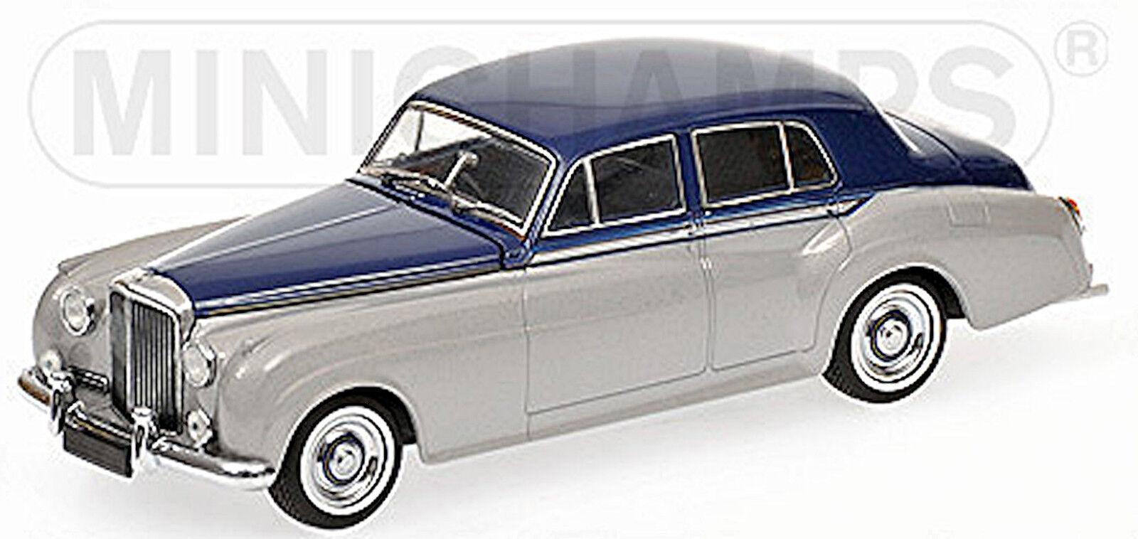 Bentley s2 Standart Saloon 1959-62 plata azul plata plata plata azul 1 43 Minichamps fe387d