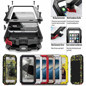 Waterproof-Shockproof-Metal-Phone-Case-Cover-Protective-Glass-for-iPhone-Samsung