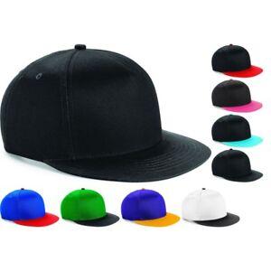 045686f4e Details about Youth Teenager Beechfield 100% Cotton Retro Snapback Baseball  Cap Hat Flat Peak