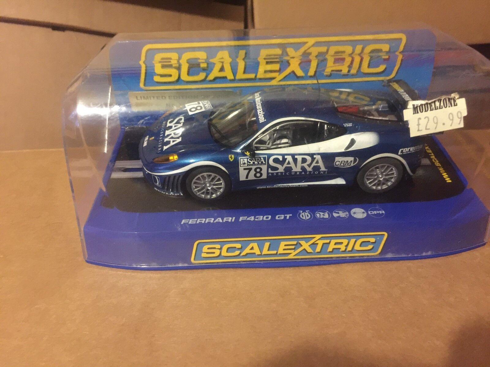Scalextric C2835 Ferrari F430 GT Scuderia Playteam Sara L e 1670 2000