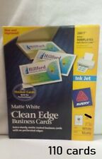 Avery 28877 Matte White Clean Edge Ink Jet White Business Cards 110 Thick Cards