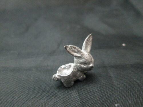 Dollhouse Miniature Unfinished Metal Bunny Rabbit Planter