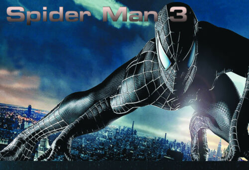 film Spider Man 3 Action Movie Posters Wall chart A3 size cinema