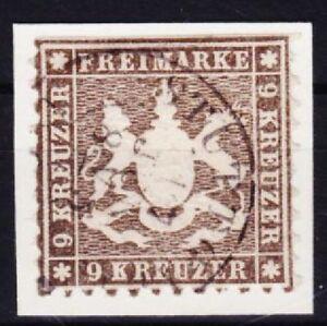 Wuerttemberg-Mi-Nr-28-gestempelt-Altdeutschland-Wappen-1863