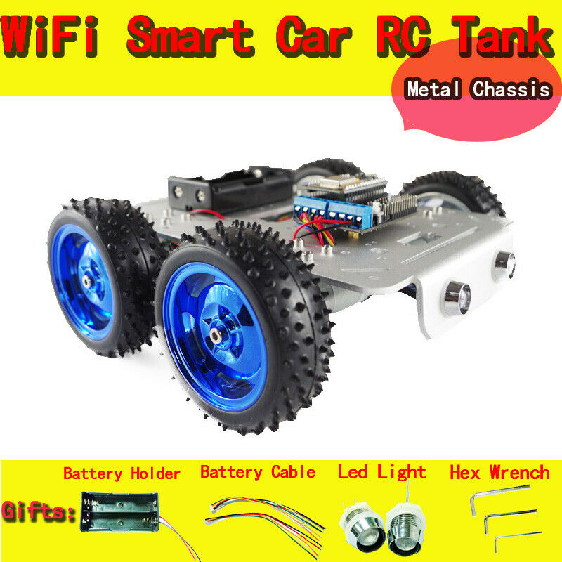 C300 WiFi RC Car Chassis with NodeMCU ESP8266 Board+Motor Drive Shield Board Kit