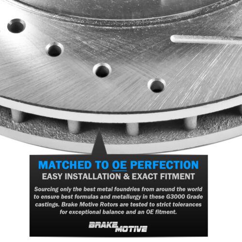 For 2007 2008 2009-2012 VOLVO C30 C70 S40 Escape Front Drill Slot Brake Rotors