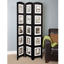 Photo Frame Room Divider Black 3 Panel Screen Stand Pictures Decor