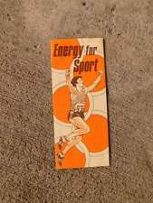 General Mills Energy For Sport Advertising Brochure Vintage Food