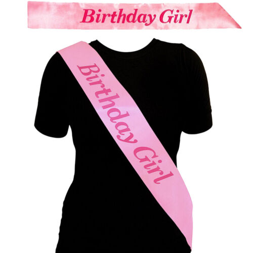 BIRTHDAY GIRL Sash in PINK Birthday Party Accessory Decoration Girls Night  Rh