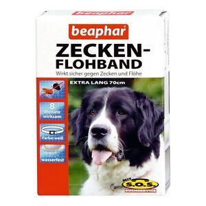 beaphar zecken flohband f r hunde mit sos extra lang 70cm zeckenhalsband ebay. Black Bedroom Furniture Sets. Home Design Ideas
