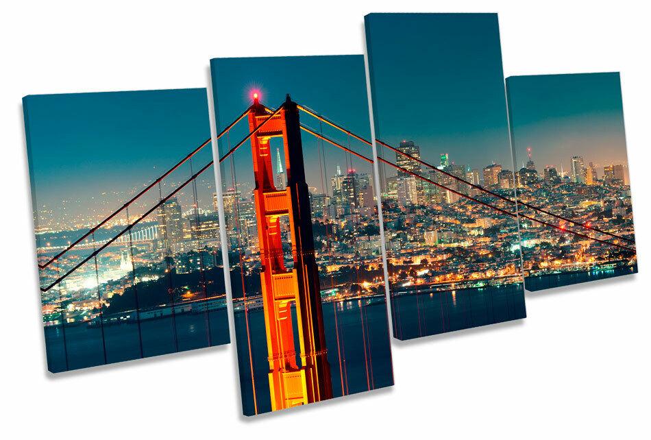 San Francisco Golden Gate Bridge MULTI CANVAS WALL ART Boxed Framed
